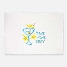Make Mine Dirty 5'x7'Area Rug