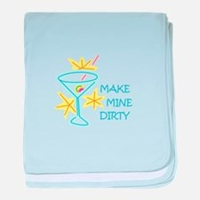Make Mine Dirty baby blanket