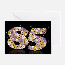 85th birthday card with flowery letters Greeting C