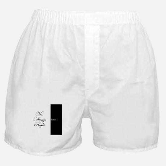 Mr Right Ms Always Right duvet 9 Boxer Shorts