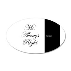 Mr Right Ms Always Right duvet 9 Wall Decal