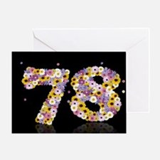 78th birthday card with flowery letters Greeting C