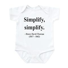 Henry David Thoreau 2 Infant Bodysuit