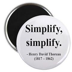 Henry David Thoreau 2 Magnet