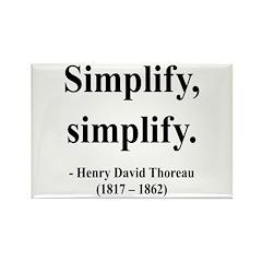 Henry David Thoreau 2 Rectangle Magnet (10 pack)