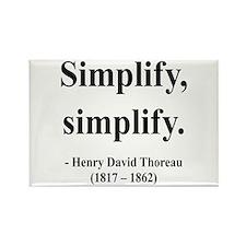 Henry David Thoreau 2 Rectangle Magnet