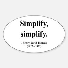 Henry David Thoreau 2 Oval Decal