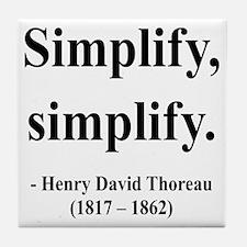 Henry David Thoreau 2 Tile Coaster