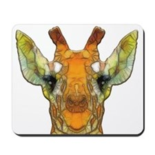 abstract giraffe calf Mousepad