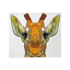 abstract giraffe calf Throw Blanket
