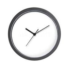 Mr Right-Opt white Wall Clock