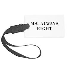 Ms Always Right-Bod black Luggage Tag
