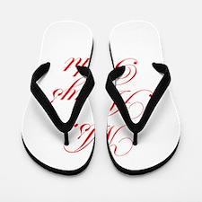 Ms Always Right-Edw red Flip Flops