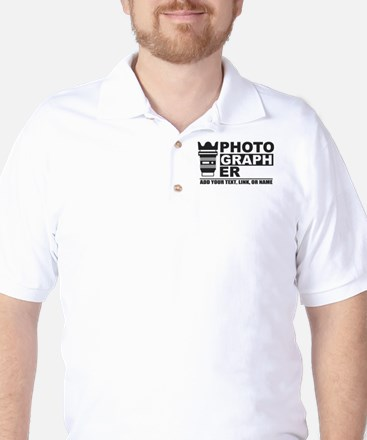 Custom Photographer Golf Shirt