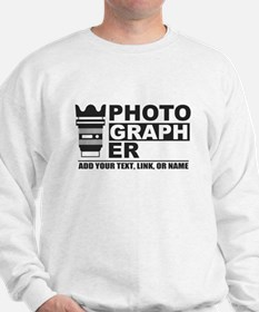 Custom Photographer Sweatshirt