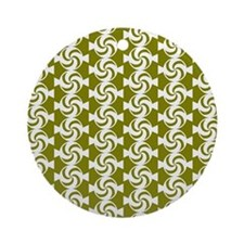 Olive and White Sweet Peppermint Ornament (Round)