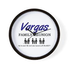 Vargas Family Reunion Wall Clock