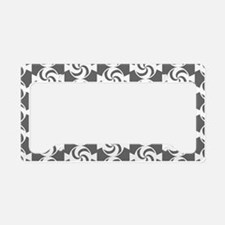 Gray and White Sweet Peppermi License Plate Holder