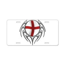 tribal England 2 (T).png Aluminum License Plate