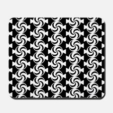 Black and White Sweet Peppermint Candies Mousepad