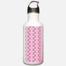 Pink and White Sweet P Water Bottle