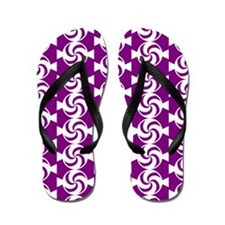 Purple and White Sweet Peppermint Candi Flip Flops