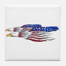 American Eagles (W).png Tile Coaster