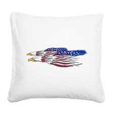 American Eagles (W).png Square Canvas Pillow