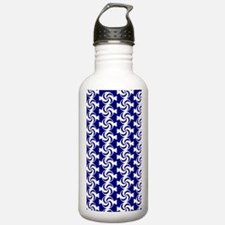 Navy Blue and White Sw Water Bottle