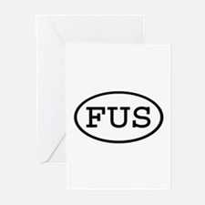 FUS Oval Greeting Cards (Pk of 10)