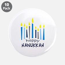"""HAPPY HANUKKAH 3.5"""" Button (10 pack)"""