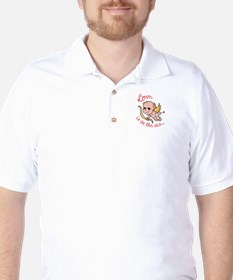 LOVE IS IN THE AIR Golf Shirt