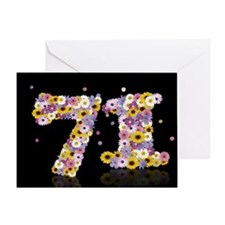 71st birthday card with flowery letters Greeting C