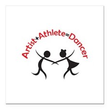 "ARTIST ATHLETE DANCER Square Car Magnet 3"" x 3"""