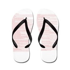 Top 100 Bible Verses 3 white Flip Flops