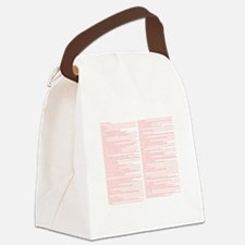 Top 100 Bible Verses 3 white Canvas Lunch Bag