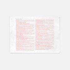 Top 100 Bible Verses 3 white 5'x7'Area Rug