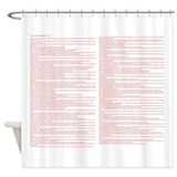 Bible verse shower curtains Shower Curtains