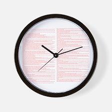 Top 100 Bible Verses 3 white Wall Clock