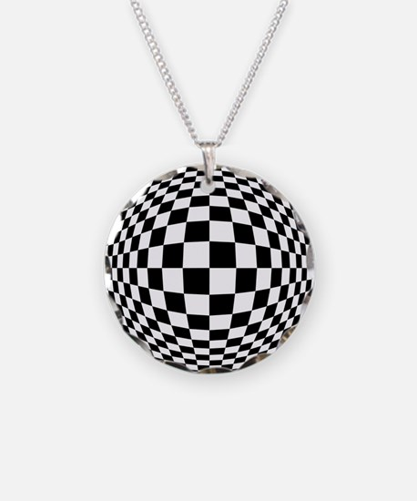 Expanded Optical Check Necklace