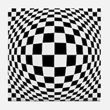Expanded Optical Check Tile Coaster