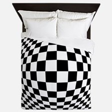 Expanded Optical Check Queen Duvet