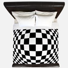 Expanded Optical Check King Duvet