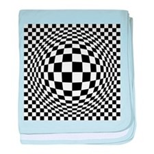 Expanded Optical Check baby blanket