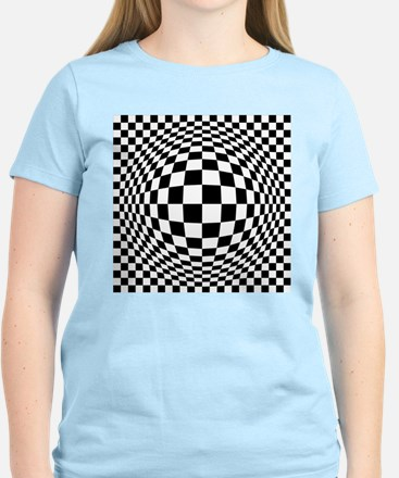 Ex[amded Optical Check T-Shirt
