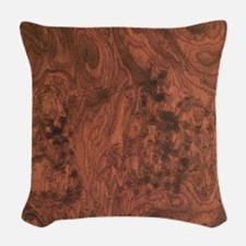 Mahogany burl Woven Throw Pillow