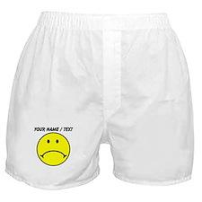 Custom Yellow Sad Face Boxer Shorts