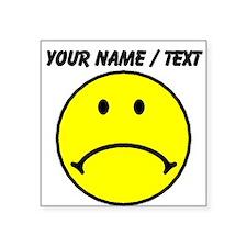 Custom Yellow Sad Face Sticker