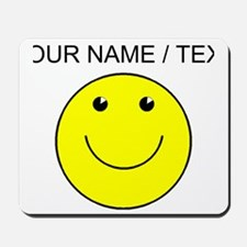 Custom Yellow Smiley Face Mousepad