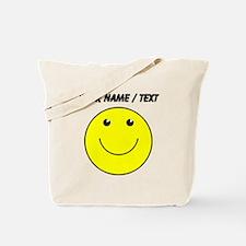 Custom Yellow Smiley Face Tote Bag